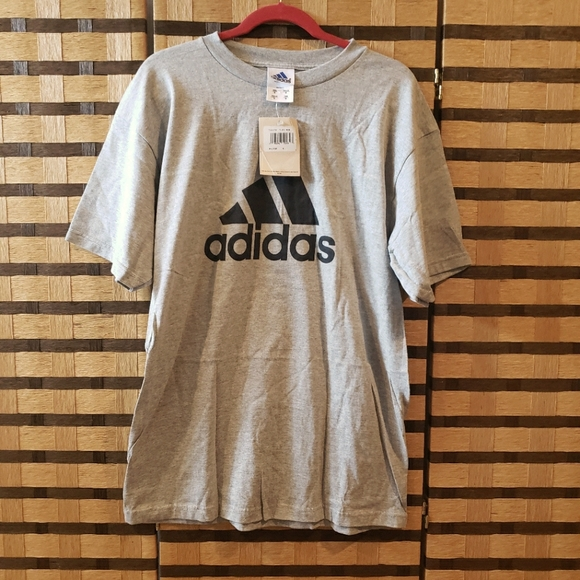 Mens medium grey Adidas top